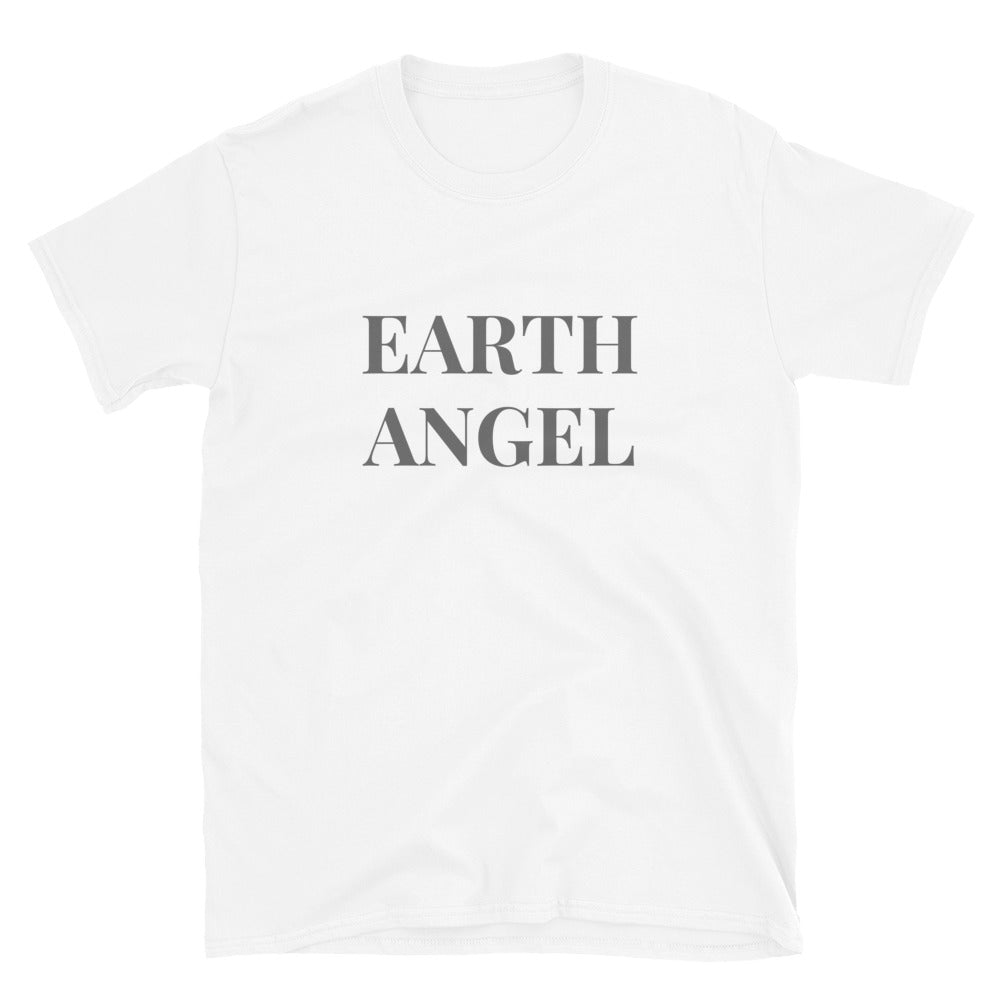 Angel Guided Healing - Earth Angel - Wings on back Short-Sleeve Unisex T-Shirt