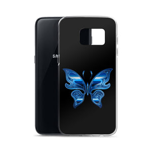 D4 - Iridescent Blue Butterfly Samsung Case