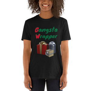H - Gangsta Wrapper Funny Holiday Short-Sleeve Unisex T-Shirt