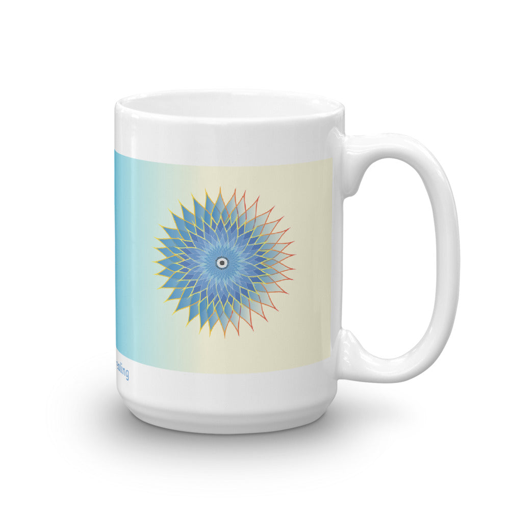1 - Angel Guided Healing - Blue/Yellow Lotus Mug