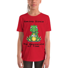 Load image into Gallery viewer, Y1 - Dinosaur Funny Gaming Youth Short Sleeve T-Shirt