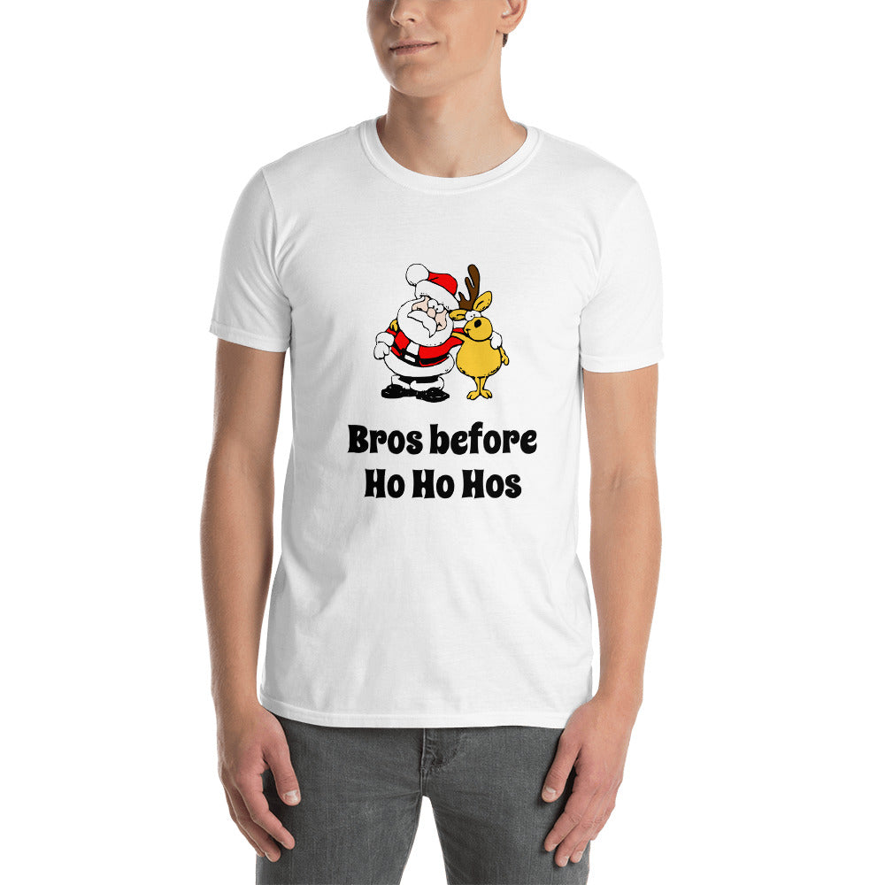 H - Funny Bros before Ho Ho Hos Christmas Santa Short-Sleeve Unisex T-Shirt