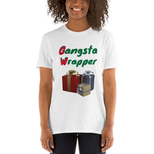 Load image into Gallery viewer, H - Gangsta Wrapper Funny Holiday Short-Sleeve Unisex T-Shirt