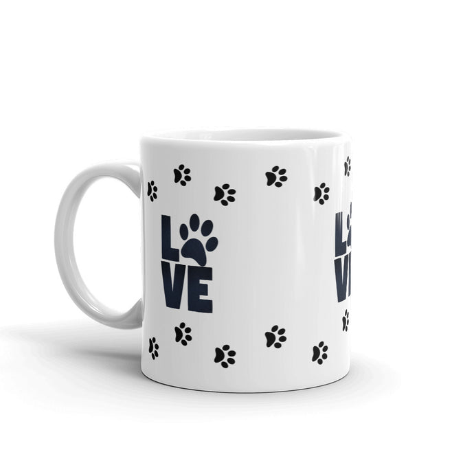 A - LOVE paw prints Mug