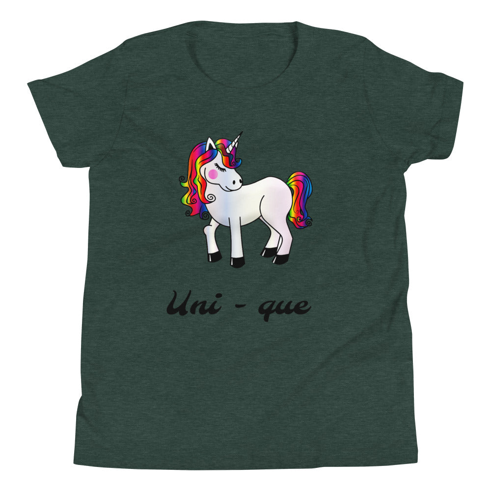 Y8 - Unicorn Unique Youth Short Sleeve T-Shirt