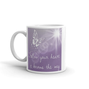 D4 - Butterfly Follow Your Heart Mug