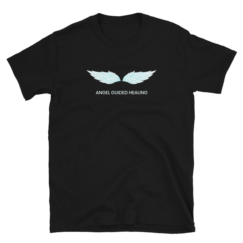Angel Guided Healing -  Teal Wings Short-Sleeve Unisex T-Shirt