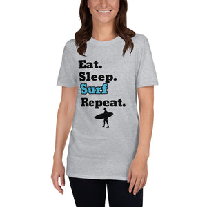 D6 - Eat Sleep Surf Repeat Short-Sleeve Unisex T-Shirt