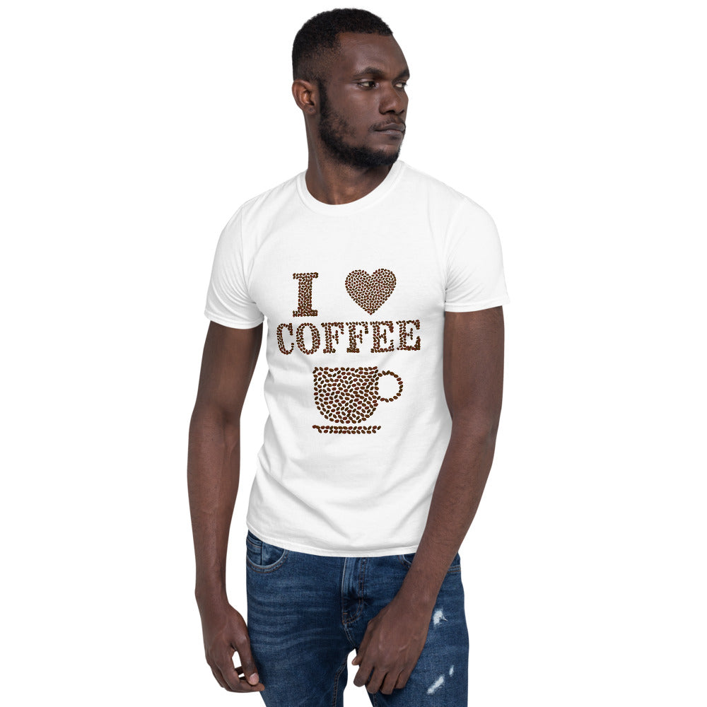 C - I LOVE Coffee Short-Sleeve Unisex T-Shirt