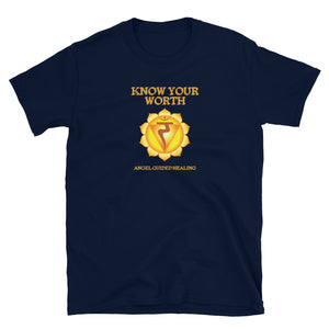 Angel Guided Healing - Know Your Worth Solar Plexus Chakra Short-Sleeve Unisex T-Shirt