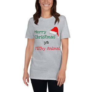 H - Merry Xmas Ya Filthy Animal Funny Home Alone Short-Sleeve Unisex T-Shirt