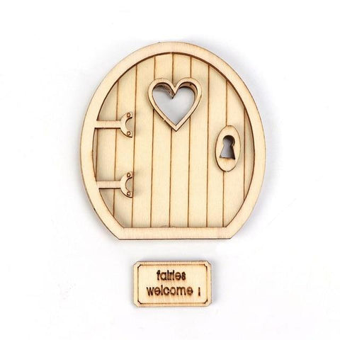 6Pcs Wooden Fairy Garden Door