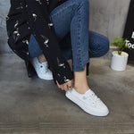 2019 New Women White Shoes