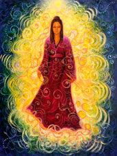Art Print- Guan Yin Protection by Toni Carmine