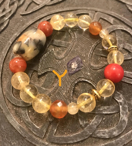 Bracelet- Five Element Stone (Lucky Charm Stone)