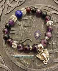 Bracelet- Amethyst with Lord Ganesha