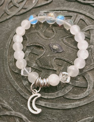 Bracelet - Selenite Moon