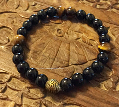 Bracelet- Tiger Eye & Black Tourmaline for protection