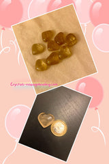 Citrine Crystal Heart Shaped