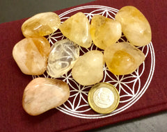 Citrine Crystal Medium tumbled Rio Grande  AA grade