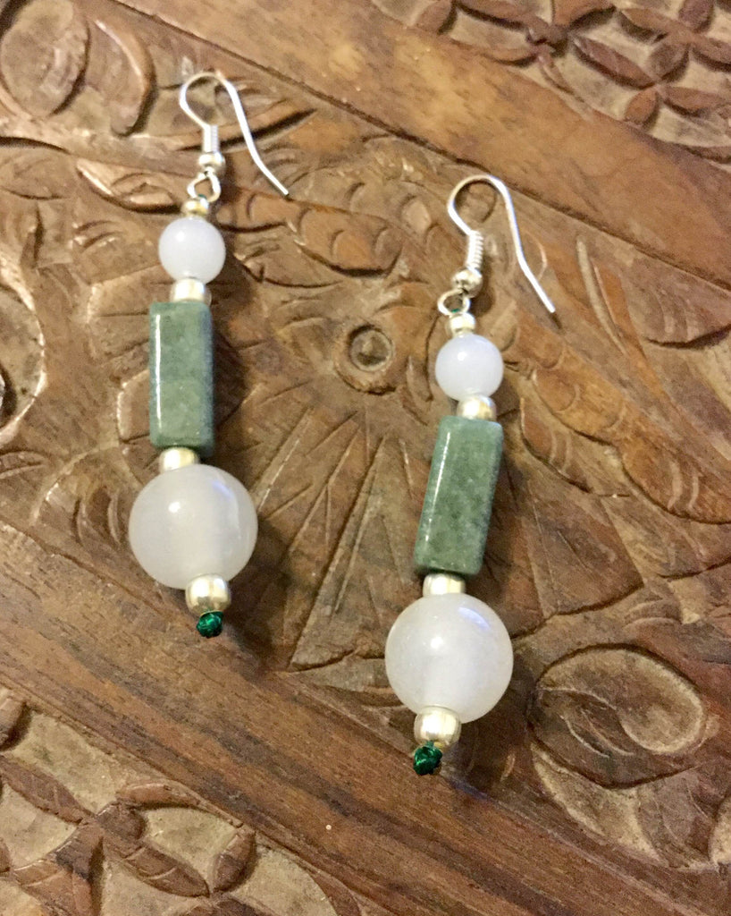 Earrings Jade Of Good Health Qi New Age Healing Singapore