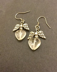 Earrings - Clear Quartz Angels' Love