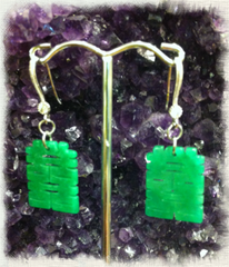 Earrings- Jade Double Happines
