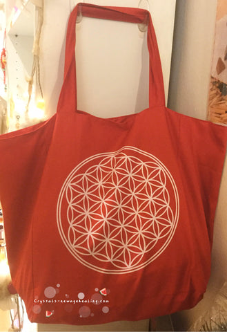 Flower of Life colored bag