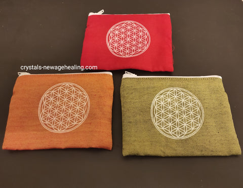 Flower of Life zip purse