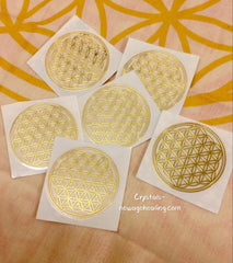 Flower of Life Golden Decal Stickers 35mm