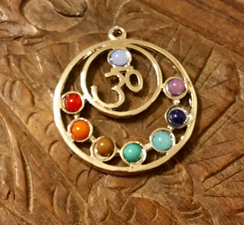Pendant- Om Chakra Beads estimated width 30mm