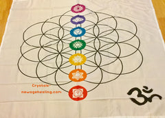 Flower of Life grid cloth OM large estimated 152 x 132cm