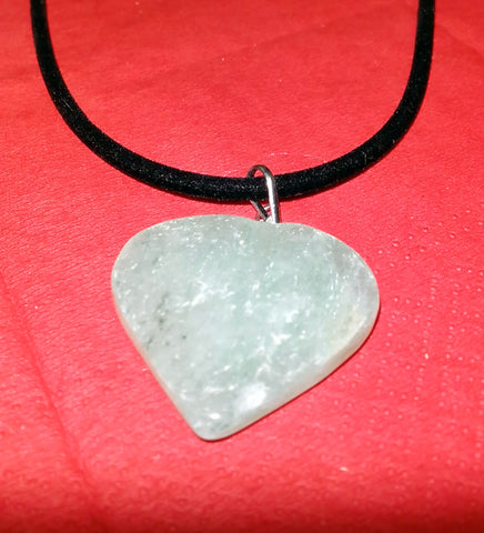Pendant- Green Aventurine heart shaped- 35~40mm