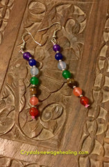 Earrings- Chakra Beads
