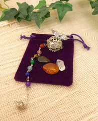 Pendulum- Chakra Beads Angel Wings Cage