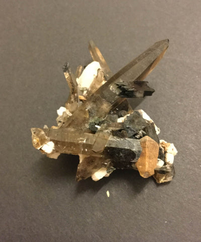 Aegirine with Smoky Quartz and Feldspar- 45 x22 x51mm- RARE