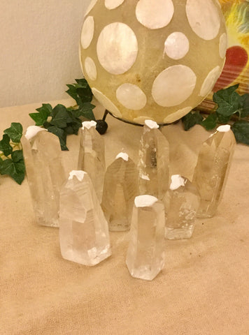Lemurian crystals extra grade with base cut- various sizes & weight; from Brazil
