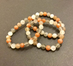 Bracelet- 4 Colored Moonstone; Calming & Protection