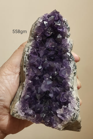 Amethyst Deep Purple cluster from Uruguay 558gm