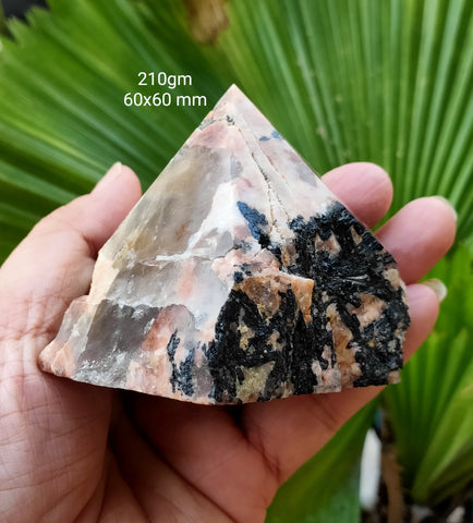 Black Tourmaline in Feldspar Tower