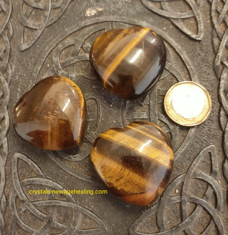 Tiger Eye heart shaped