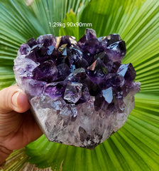 Amethyst Deep Purple cluster from Uruguay 1.29kg