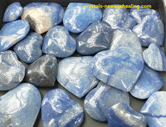 Blue Quartz Heart various sizes