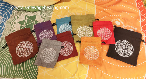Flower of Life drawstring pouch small