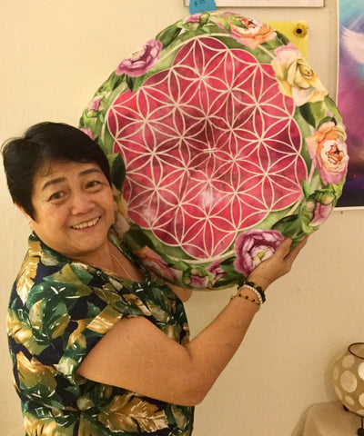 Meditation Cushion Flower of Life Spring Round