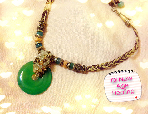 Necklace- Strong personality of this Agate Green necklace
