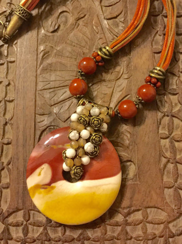 *Necklace- Mookaite Jasper
