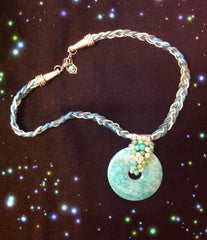 Necklace- Vibrant and pretty Amazonite necklace