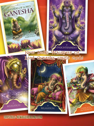 Oracle cards Whispers of Lord Ganesha Angela Hartfield Artwork by Ekaterina Golovanova