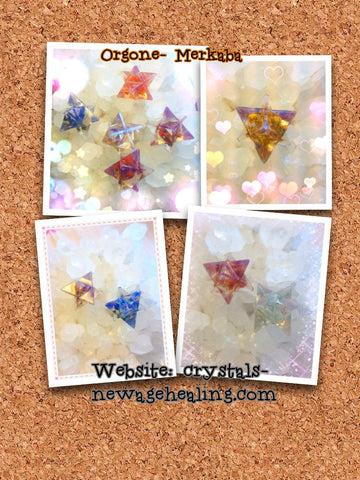 Orgone Mixed stones Merkaba - (15~20mm)